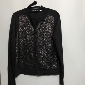 NWOT Diane Von Furstenburg black cardigan, Size M
